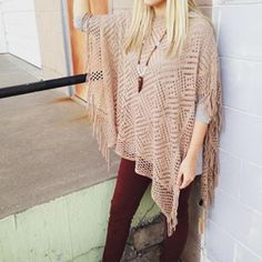 ||Fringe to the End|| #bigstar #poncho #RibbonChix