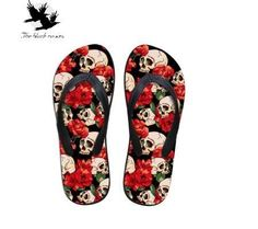 Skulls & Roses Flip Flops
