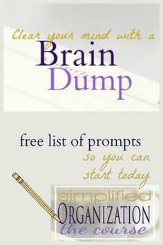 Clear your head of mental clutter with a complete brain dump. This free guide will give you all the instructions and prompts you need to get everything out of your head and onto paper so you can stop feeling like you're going crazy and get organized. GTD for homemakers