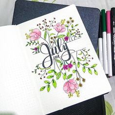 Starting to work on my July spread. I thought of having some greenery in the theme. #bulletjournal #bujolove #bujo #bujoinspiration…