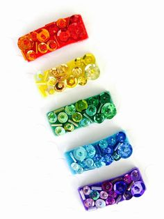Couture Ombre Sequin Hair Clip Set of 3 or 5 by OrangeYouPeachy