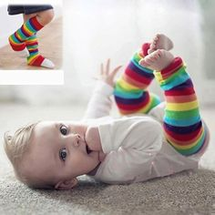 >> Click to Buy << Toddler New  Rainbow Colorful Striped Design Knee High Socks Girls Boys Fall Winter Leg Warmers Fox Socks Knee Pad #Affiliate