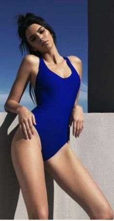 Who made Kendall Jenner's blue swimsuit?