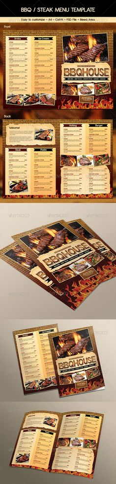 Realistic Graphic DOWNLOAD (.ai, .psd) :: http://jquery.re/pinterest-itmid-1006934164i.html ... BBQ / Steak Menu ...  Steak Menu, barbecue, barbeque menu, barbeque resto, bbq house, bbq menu, brown, burger, cafe menu, fast food menu, food menu, hot, restaurant menu, ribs, steak, steak house  ... Realistic Photo Graphic Print Obejct Business Web Elements Illustration Design Templates ... DOWNLOAD :: http://jquery.re/pinterest-itmid-1006934164i.html