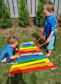 DIY Outdoor Xylophone-soooo want to do this just need to find a friend with tools