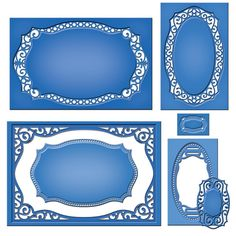 SPELLBINDERS-Nestabilities Dies. These dies feature cutting; embossing and stenciling capabilities. Each set of dies nest in size approximately 1/4 inch larger than the previous die and will work with