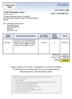 Online Invoices Free Professional Services Invoice  Printable Invoice Template Microsoft .