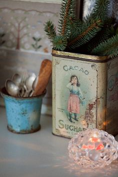 Old Cacao tin