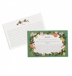 Citrus Floral Recipe Cards - Gin Creek Kitchen