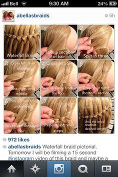 Waterfall braid how-to