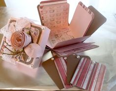 Pink and Brown Crown Princess Explosion Box by SherryLovesVintage