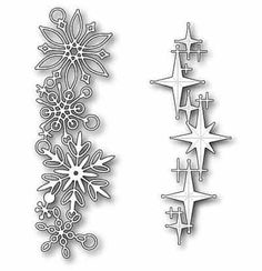 snowflakes and stars Paper Ornaments, Xmas Ornaments, Glass Painting Designs, Diy And Crafts, Paper Crafts, Hobby House, Wedding Invitation Card Template, Cricut Cards, Coloring Book Pages