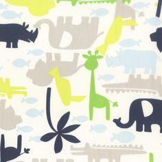 Safari Sky Easy-Fit Crib Sheet | Baby Boy Bedding