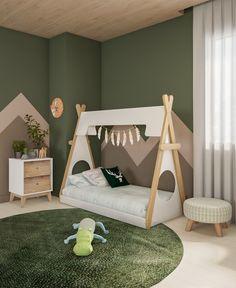 Toddler Rooms, Baby Boy Rooms, Toddler Bed, Childrens Jungle Bedrooms, Boys Jungle Bedroom, Boy Girl Bedroom, Girl Room, Baby Cradle Wooden, Safari Room