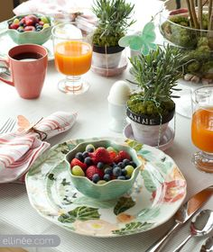 Love the plate and bowl!! Also the glass jar with moss and branches