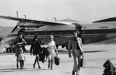 Maureen Starkey, Ringo Starr and family arriving in Costa Smeralda, 1968