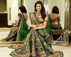 Kajal Agarwal in beautiful bridal lehenga designed by Tarun Tahiliani. Lehenga Choli Designs, Bridal Lehenga Choli, Ghagra Choli, Tarun Tahiliani, Indian Dresses, Indian Outfits, Indian Clothes, Indische Sarees, Moda Indiana