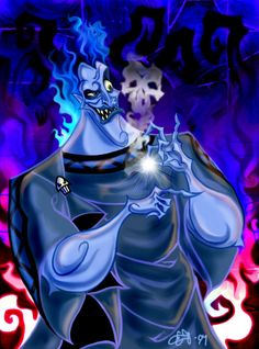 """This is Hades from the Disney movie """"Hercules"""" Part of a bigger pic wich includes all the Disney villains. Hades Disney, Evil Villains, Disney Villains, Disney And Dreamworks, Disney Pixar, Walt Disney, Disney Love, Disney Art, Hades Hercules"""