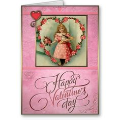 Valentines Day - Girl and boy holding red heart. Valentines Day - Greeting Cards in Vintage Style Valentine Greeting Cards, Valentine's Day Greeting Cards, Vintage Valentine Cards, Valentine Day Gifts, Heart Cards, Flower Basket, Holiday Cards, Vintage Style, Best Gifts