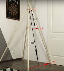 How to make a teepee for children with their own hands -. Diy Tipi, Diy Teepee Tent, Kids Tents, Teepee Kids, Teepees, Pvc Tent, Baby Room Decor, Kid Beds, Baby Sewing