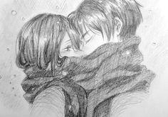 Let's start 2017 with some Eremika, ya? Mikasa X Eren, Eren Aot, Attack On Titan Eren, Attack On Titan Ships, Attack On Titan Fanart, Anime Drawings Sketches, Anime Couples Drawings, Cute Anime Couples, Aot Anime