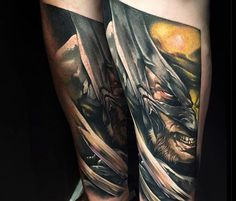 X Force Wolverine tattoo by Benjamin Laukis