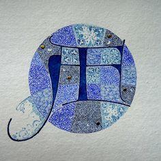 Anachropsy - Calligraphie latine par Benoit Furet - Monogramme AF
