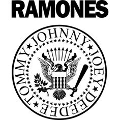 Gabba Gabba Hey - The Ramones🤘🏼 Black Metal, Rock Y Metal, Heavy Metal, Ramones Logo, Ramones T Shirt, Rock And Roll, The Rock, Iron Maiden, Rock Logos
