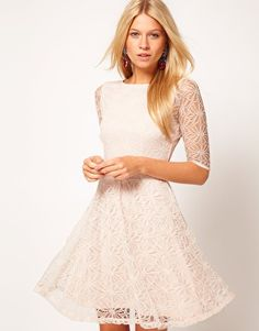 Lace Skater Dress from asos. Shop more products from asos on Wanelo. Pretty Outfits, Pretty Dresses, Beautiful Dresses, Lace Dress, White Dress, White Lace, Do It Yourself Fashion, Costume, Latest Outfits