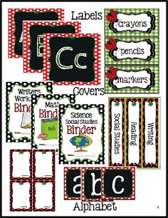 Classroom Essentials - Spotted Ladybug Design! Everything you need to set-up your classroom!