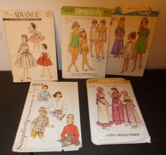 Inventory 47 Lot of 5 Vintage Patterns Girls Size 10