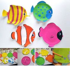 Tropical Reef Fish are fun animal crafts for kids that are great as summer activities for kids or classroom crafts for decorating during a lecture on the ocean. Dive into crafts for kids with these amazing tropical fish made from paper plates. Ocean Kids Crafts, Paper Plate Crafts For Kids, Fish Crafts, Summer Crafts For Kids, Craft Projects For Kids, Summer Activities For Kids, Paper Crafting, Craft Ideas, Party Crafts