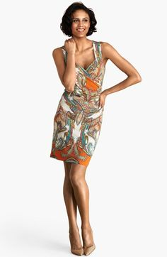 Donna Morgan Sleeveless Print Jersey Sheath Dress available at #Nordstrom