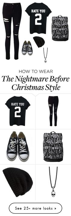 """Dark/Emo"" by jazzyjemmaxxx on Polyvore featuring Miss Selfridge, Converse, Rick Owens and King Baby Studio"