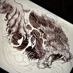 💬 Artwork b Tiger Tattoo Design, Tattoo Design Drawings, Tattoo Sketches, Tattoo Designs, Lion Tattoo Sleeves, Sleeve Tattoos, Body Art Tattoos, Tribal Tattoos, Tattoos Skull