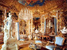 Mirror room at Linderhof Castle – Bavaria, Germany.