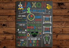 Mickey Mouse Milestone Chalkboard by RadBoyMomDesigns on Etsy