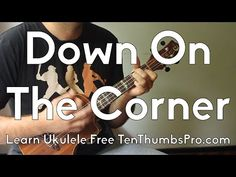 Down On The Corner - Creedence Clearwater Revival - How To Play Ukulele Tutorial w/Riff, Tabs Ukulele Songs Popular, Easy Ukulele Songs, Cool Ukulele, Ukulele Chords, Creedence Clearwater Revival, Matchbox Twenty, Country Music Singers, Music Lessons, Playing Guitar