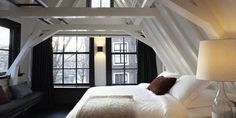 White wooden ceiling with wooden beams