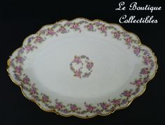 limoges china | Limoges China Elite Works Oval Serving Dish Bridal Wreath Bawo & from ...