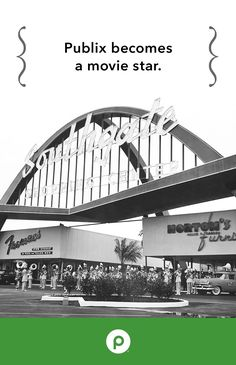 This iconic Publix shopping center was featured in the 1990 movie Edward Scissorhands. Above is the Southgate Publix in Lakeland, Florida. It was among the first shopping centers built in Florida, the first being in St. Petersburg.