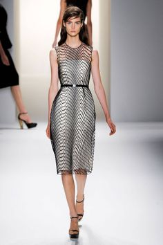 Modern, wire-like dress from the Calvin Klein Spring 2013 collection.