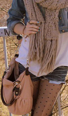 have that color on my nails right now and working on my knitting my scarf love this look.