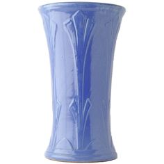 Vintage Pottery Vase Robinson Ransbottom Pottery Ohio Pottery USA... ($148) ❤ liked on Polyvore featuring home, home decor, vases, blue home decor, vintage home decor, pottery vases, vintage home accessories and vintage blue vase