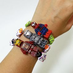 New Lego IronMan Figure Fashion Bracelet Wristband DIY Handmade Birthday Gift #Handmade #KoreanStyle