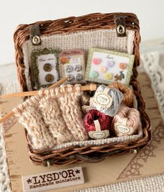 Mini Knitting Basket