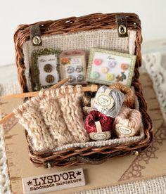Mini Knitting Basket