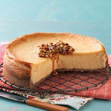 Maple-Pecan Cheesecake: King Arthur Flour http://www.kingarthurflour.com/recipes/maple-pecan-cheesecake-recipe