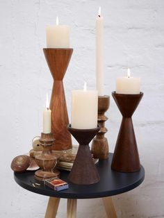 Woody candleholder, Pfister Candles, Candle Holders, Inspiration, Candlesticks, Pfister
