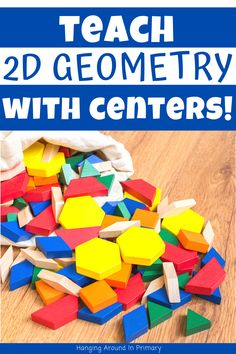 Engage your students with Hands-On Geometry Centers Teaching Geometry, Geometry Activities, Teaching First Grade, Teaching Math, 2d And 3d Shapes, Primary Maths, Teacher Inspiration, New Teachers, Elementary Math